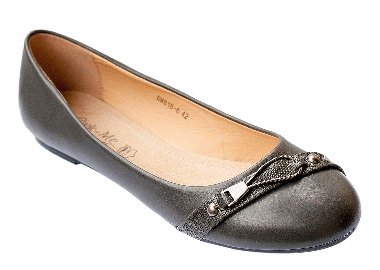 Chaussures Ballerines Femme Première Cuir DM818-6 19994 Grande Ballerines DM818-6 Pointure 41 42 43 44 Gris c1f8540 - shopssong.space