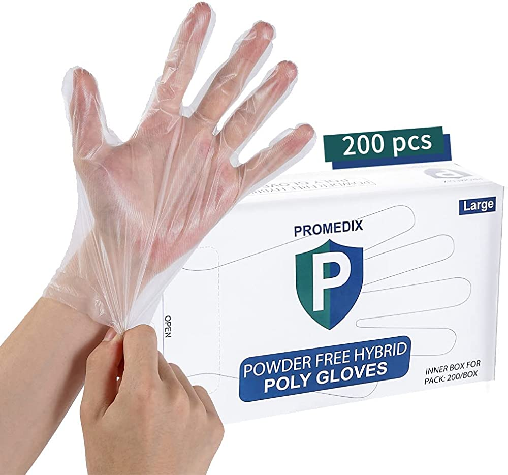 Gloves Disposable Latex Free,(200 Pcs) Powder Free Disposable Gloves for Household Cleaning,Food Gloves for Kitchen