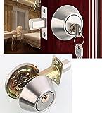 Casa para puerta Cilindro bloqueo de seguridad/Cerrojo, latón + acero inoxidable, re-key para cerrar la puerta