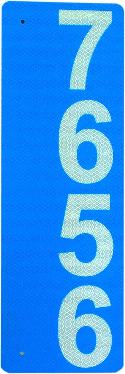 """Custom 911 Reflective Address Sign - Very Highly Visible in The Daytime and Nighttime. Excellent for Emergency Response, Delivery Service, Double-Sided 6""""x12"""" .04"""" Aluminum Engineering Grade(EGP)"""