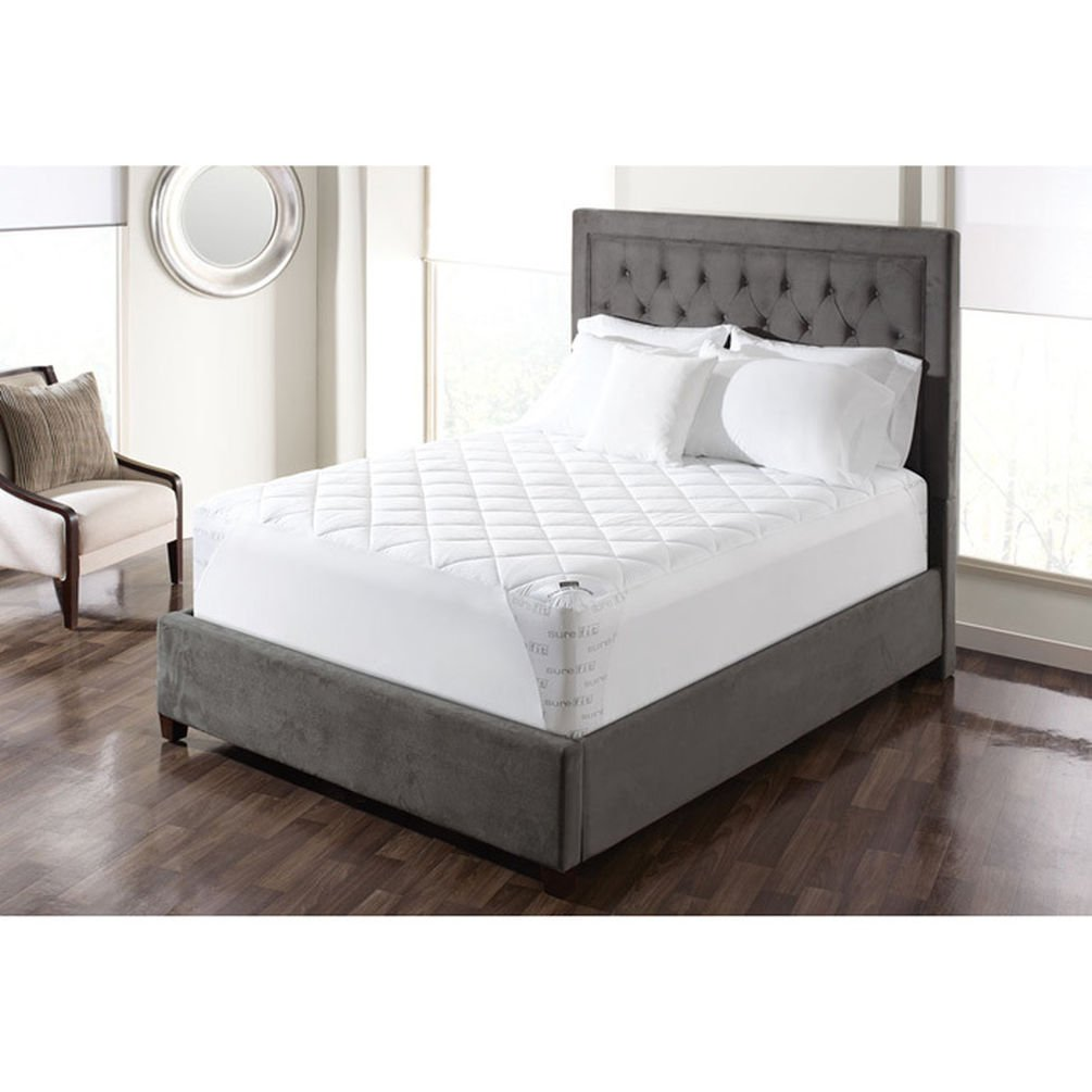 Sure Fit SF44980 Deluxe Full Waterproof Mattress Pad, White Sure Fit Inc.