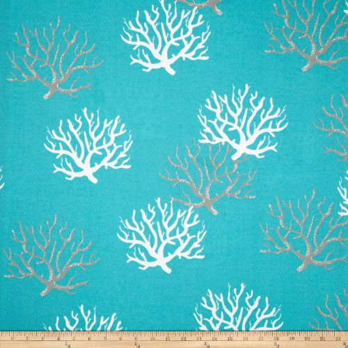 Premier Prints Indoor/Outdoor Isadella Ocean Fabric by The Yard (Yard Fabric The Coastal By)