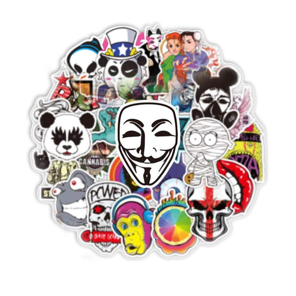 Colorful Graffiti Stickers (100 pcs) for Car Motorcycle Bicycle Luggage Graffiti Patches Skateboard Wall Decals (A)