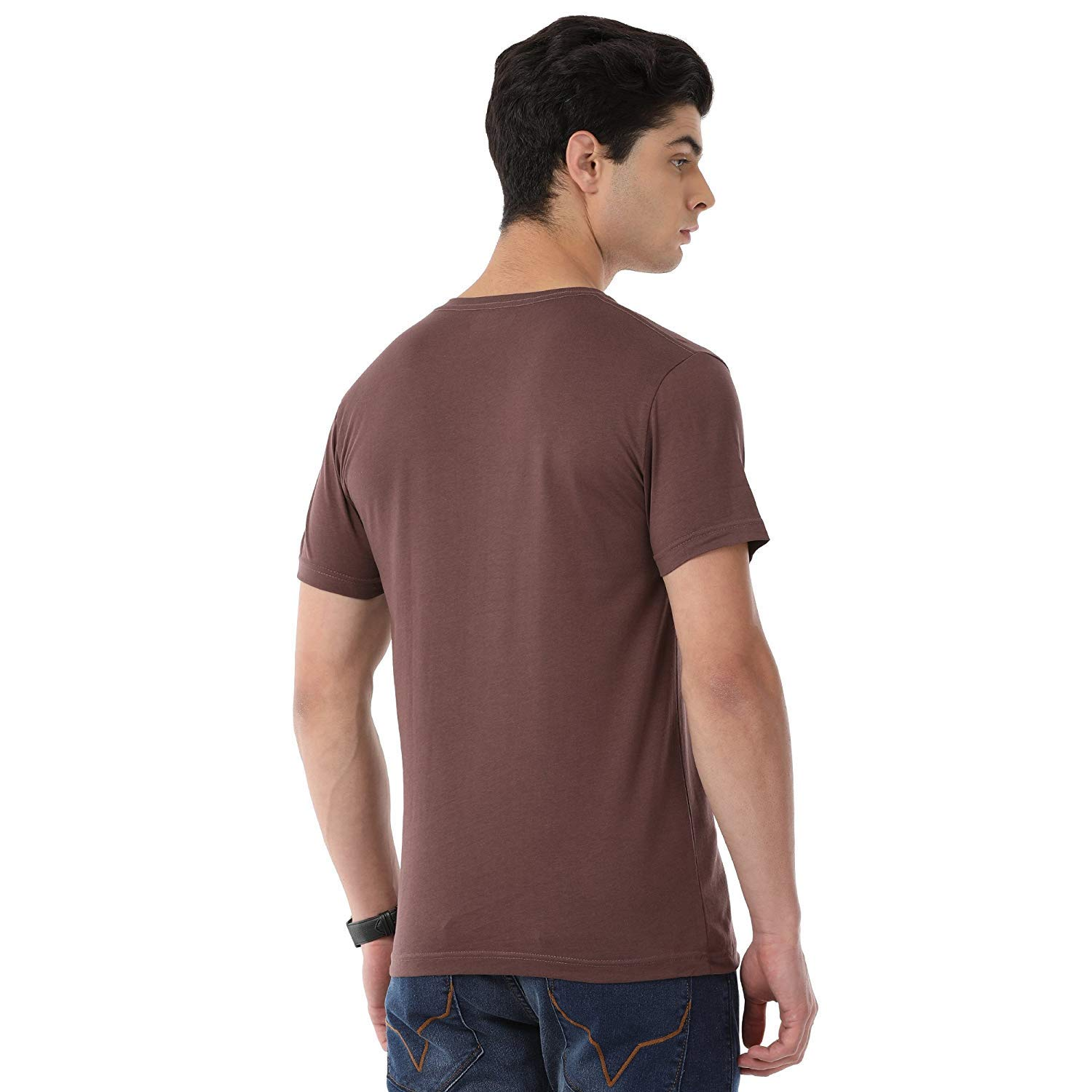 b6746e66af97 Classic Polo Half Sleeves 100% Cotton V-Neck T Shirt for Men  Amazon.in   Clothing   Accessories
