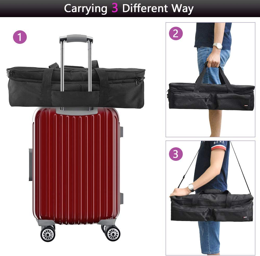 Air2 Double-Layer Carrying Bag Compatible with Cricut Explore Air Gray Silhouette Cameo 3 Cricut Maker