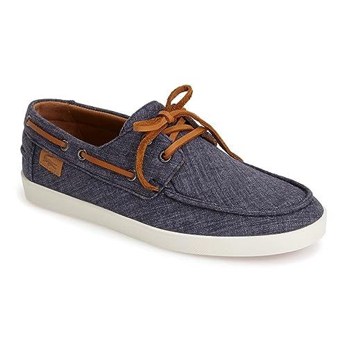 f8744b28dc8255 Lacoste Men s Keellson 5 Boat Shoe Navy 11 M  Amazon.ca  Shoes ...