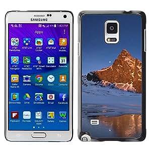 """For Samsung Galaxy Note 4 , S-type Naturaleza Moon Mountain"""" - Arte & diseño plástico duro Fundas Cover Cubre Hard Case Cover"""