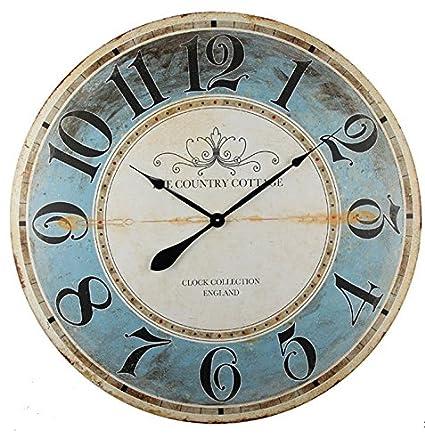 Alice\u0027s Collection \u2013 Grande Orologio Da Parete In Legno, Stile Vintage,  Diametro 80cm