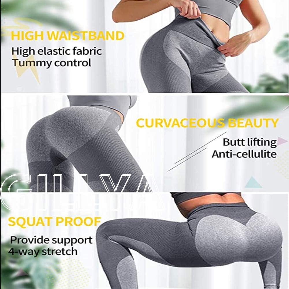 GILLYA Butt Lift Seamless Leggings TIK Tok Yoga Pants High Waisted Ruched Butt Scrunch Booty Lift Leggings