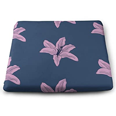 Sanghing Customized Drawn Lilies 1.18 X 15 X 13.7 in Cushion, Suitable for Home Office Dining Chair Cushion, Indoor and Outdoor Cushion.: Home & Kitchen