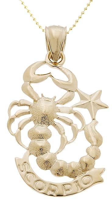 14k yellow gold zodiac scorpio pendant 15mm bead chain necklace 14k yellow gold zodiac scorpio pendant 15mm bead chain necklace mozeypictures Image collections