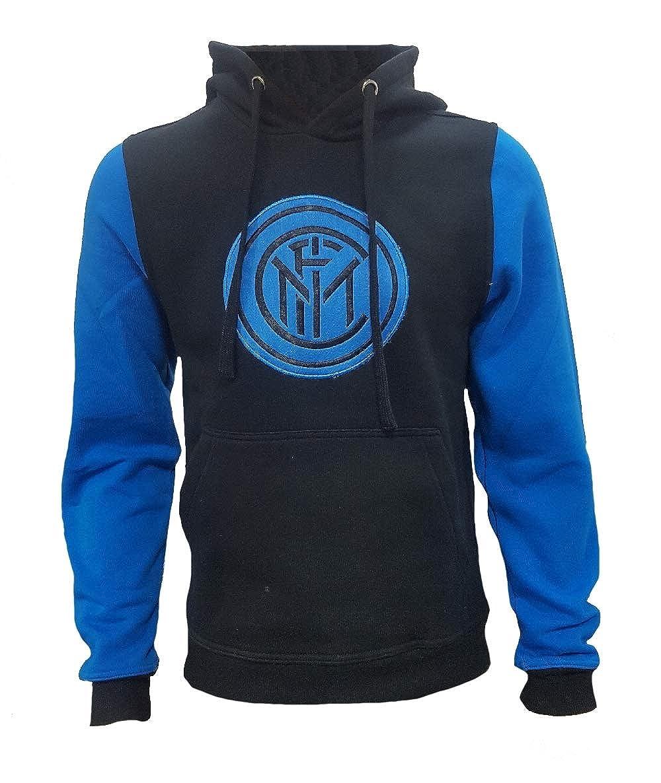Perseo Trade Schwarzes mit Kapuze Sweatshirt FC Internazionale Bekleidung PS 27859