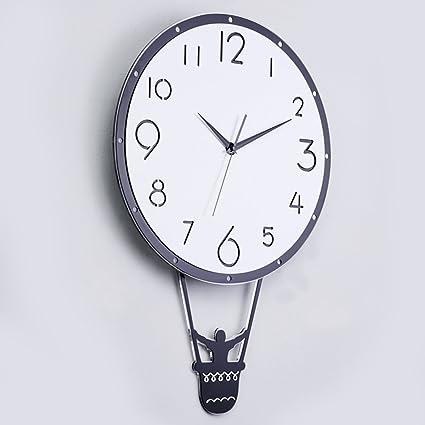 reloj de pared Inicio Reloj Swing Creative Wall Charts Moderno Mute Sala de Estar Dormitorio Relojes
