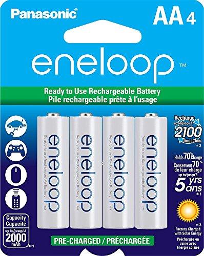Sanyo Eneloop AA Rechargeable Ni-MH Batteries