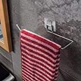 Paper Towel Holder - Brushed 304 Stainless Steel Self Adhesive Wall Mount Towel Bar for Kitchen Bathroom Toilet, Under Cabinet, Garage, Laundry, Pantry- No Drilling (Stainless steel)