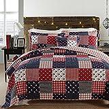 Nautical Bedding Set Ocean Themed Patchwork Quilt Set Soft 100% Cotton Bedding Luxury Light Comforter Set Queen Size