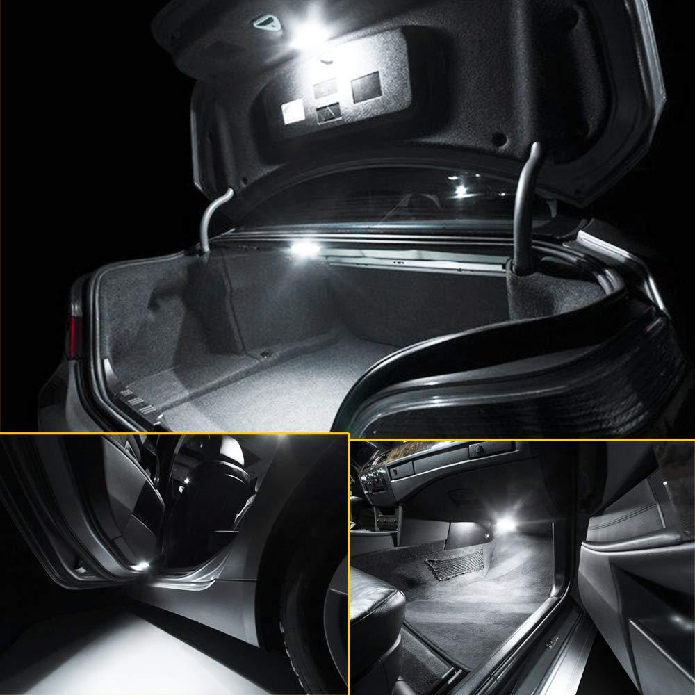 Xukey 9pcs Car Interior LED Lights Kit Fit For Civic MK8 2006 2007 2008 2009 2010 2011 Dome Trunk License Plate Lamp Bulbs 6000K 12V