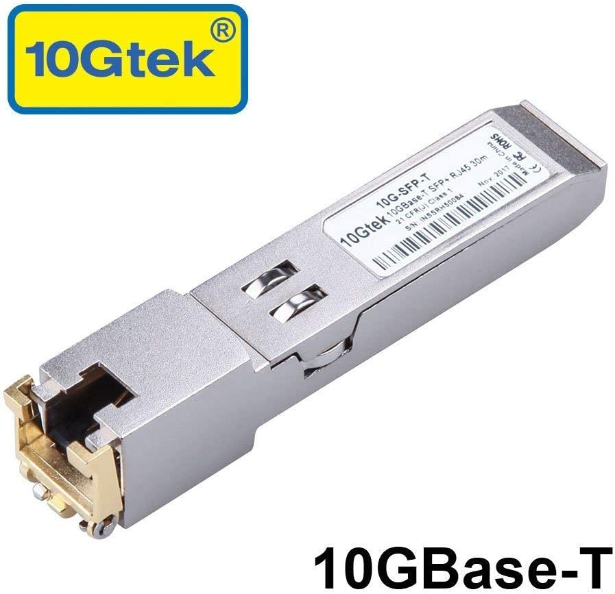 10GBase-T SFP+ Transceiver, 10G T, 10G Copper, RJ-45 SFP+ CAT.6a, up to 30 Meters, Compatible with Cisco SFP-10G-T-S, Ubiquiti UF-RJ45-10G, Netgear, D-Link, Supermicro, TP-Link, Broadcom and More