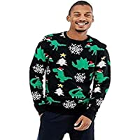 Momo&Ayat Fashions Mens Christmas Novelty Dinosaur Jumper UK Size Small to XL