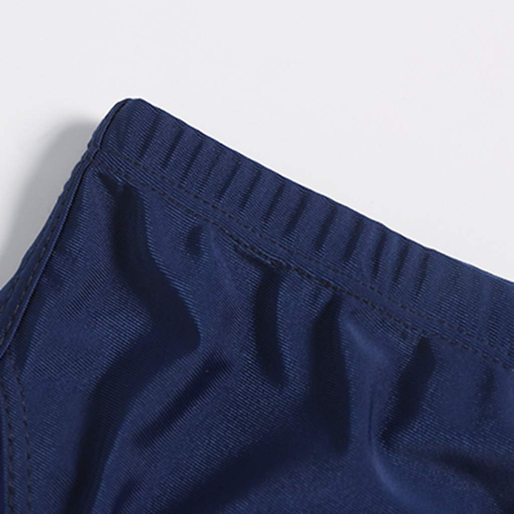 Summer Shorts Plus Size Simayixx Men Basic Swimming Trunk Surf Shorts Swimsuits Boxer Briefs Big and Tall Outdoor Pants Blue by Simayixx Blouse (Image #5)