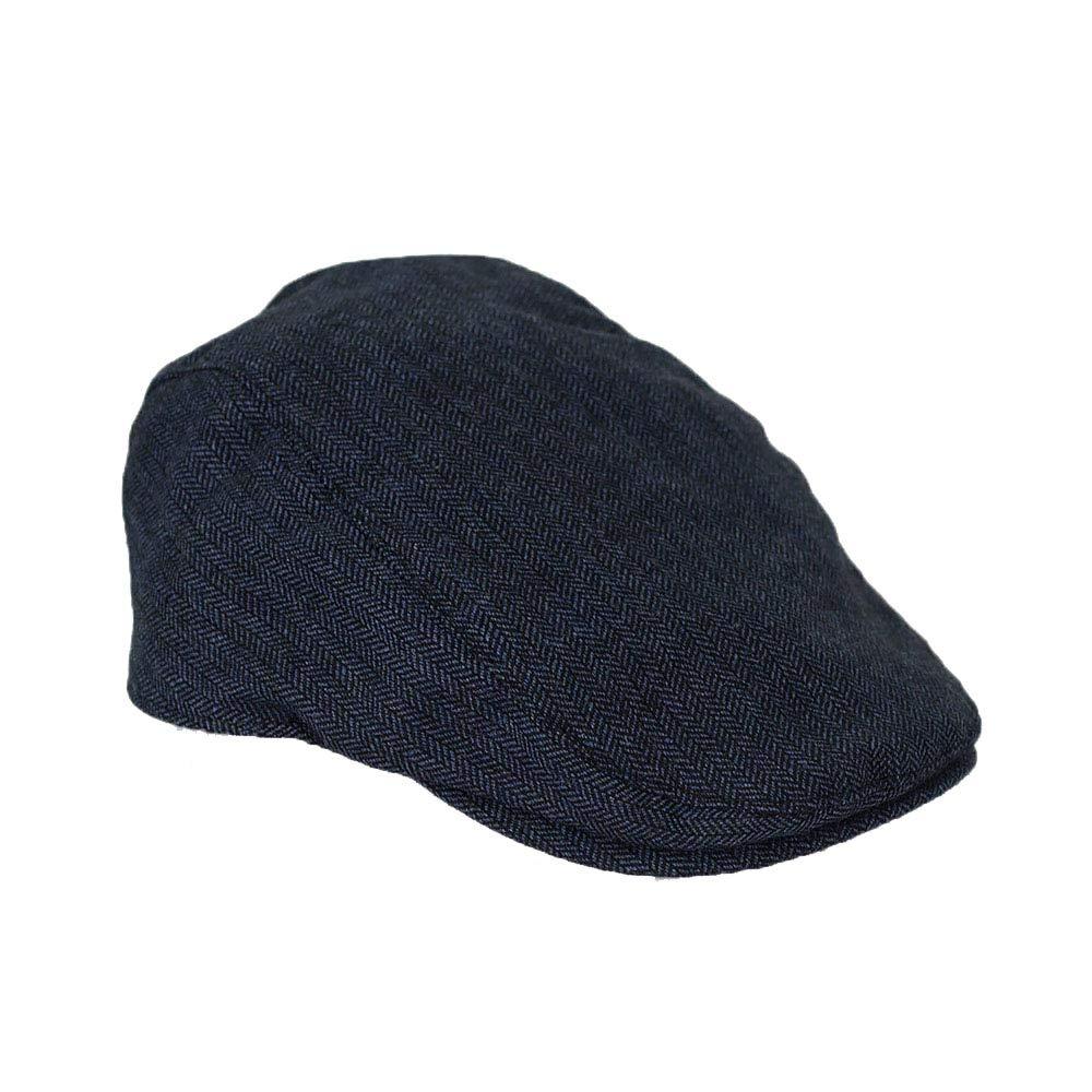Cavani Men's Herringbone Tweed Flat Caps