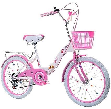 JBHURF Bicicleta Plegable para niños y niñas, Adecuada para ...