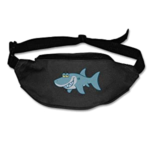 TAOHJS76 Men's and Women's Fanny Pack Fit All Phone Models and Fit All Waist Sizes Shark Cartoon - Free Clipart Best for Running, Workouts, Cycling, Travelling