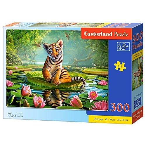 Castorland B-030156 - Puzzle - Tigre et nénuphars - 300 Pièces