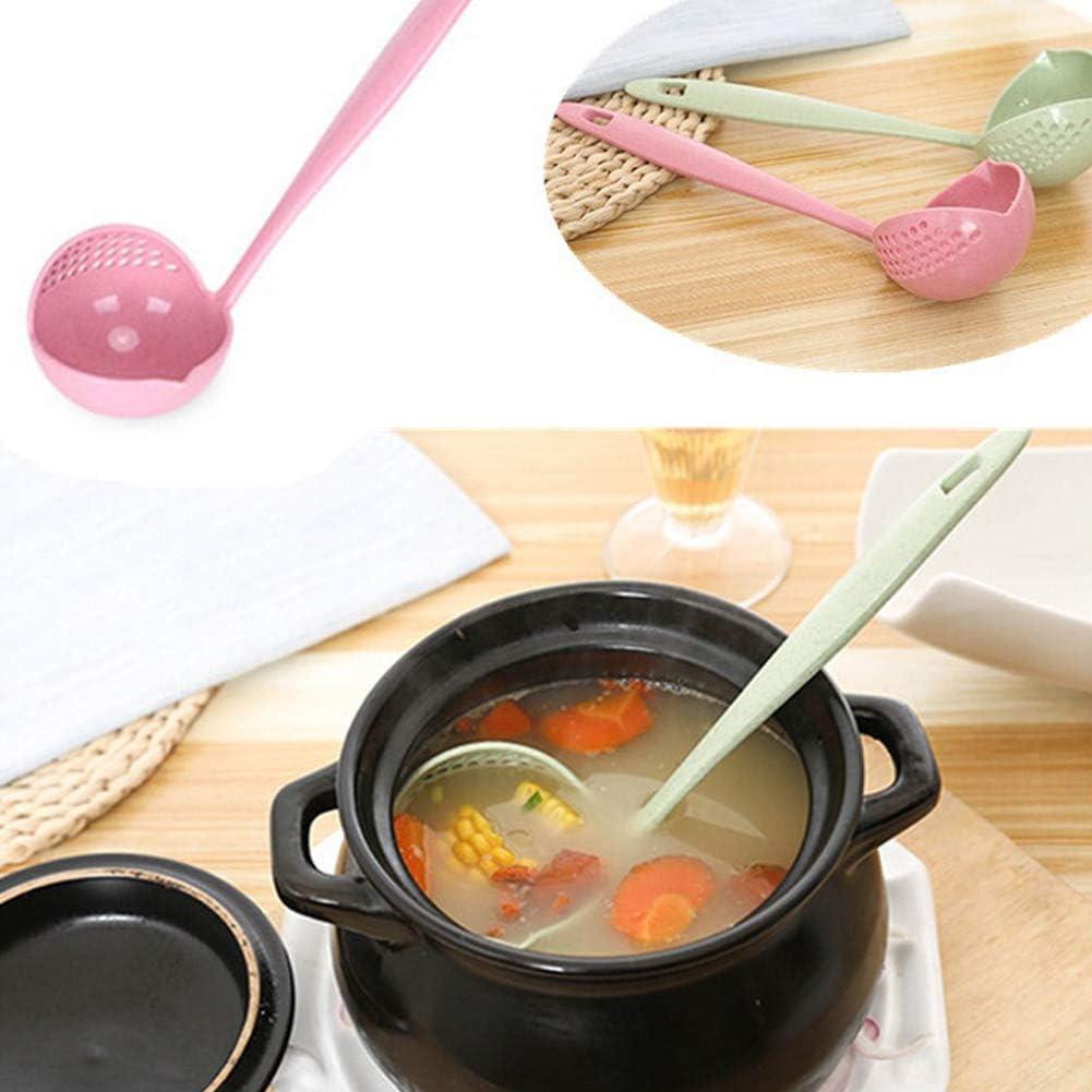 BonTime 1 st/ück Langen Griff Kunststoff l/öffel hot Pot Suppe kochl/öffel sieb doppelt verwendbar sieb