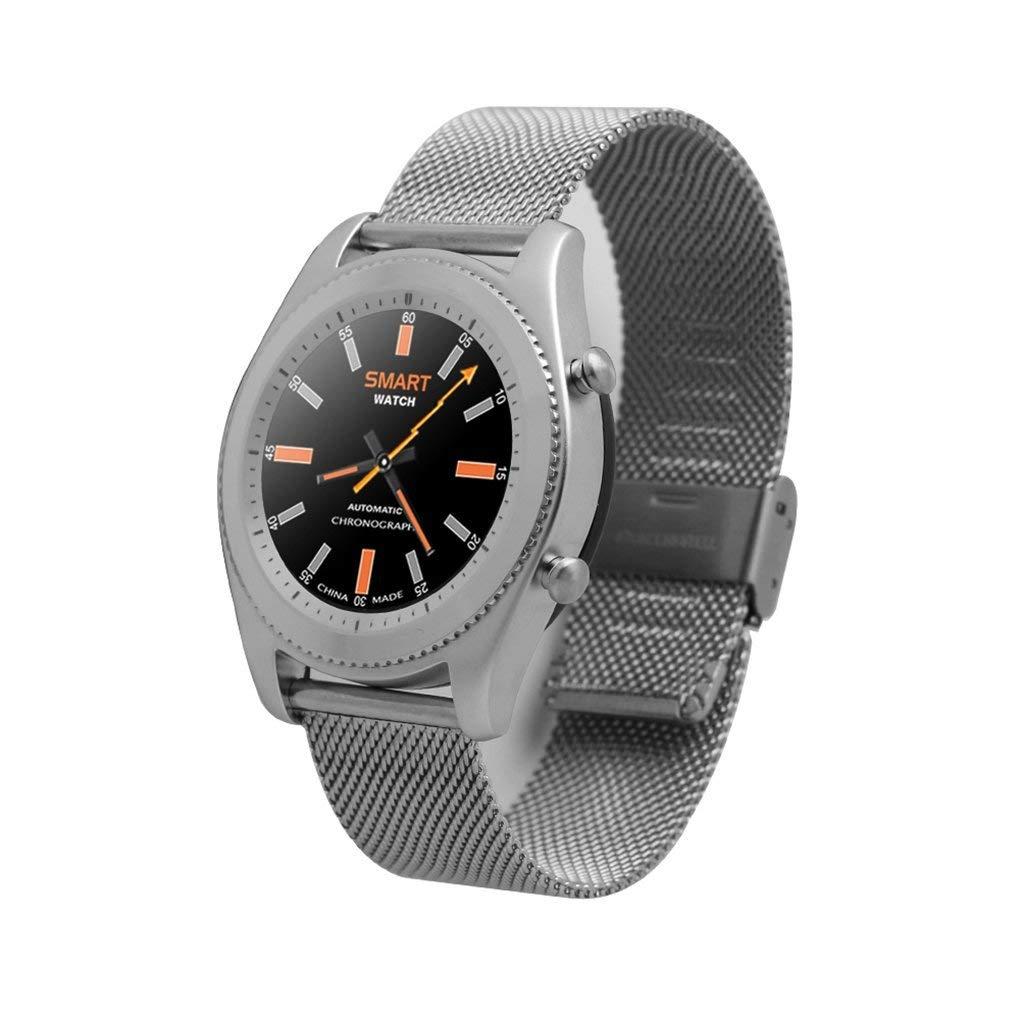 TechComm S9 Smart Watch Bluetooth NFC Fitness Tracker Heart Rate Monitor