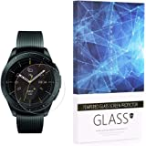 Tempered Glass Screen Protector BECROWM 9H Hardness Protective Glass Compatible with Samsung Galaxy Watch 42mm/46mm Ver,2.5D Full Coverage High Definition Premium Clear 3 Packs Smartwatch Accessories (42mm Ver)