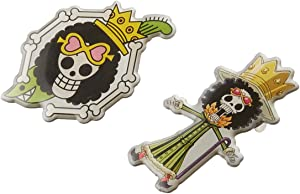 One Piece Brook Skull Metal Pins Cool Anime Pin