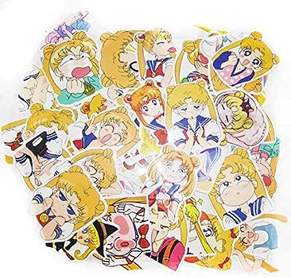 40 unids/pack Anime Sailor Moon Sticker Cartoon Girl Scrapbook Decor PVC Papelería Pegatinas School Office Supply: Amazon.es: Oficina y papelería