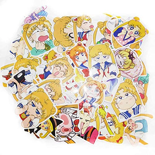 - 40pcs/pack Anime Sailor Moon Sticker Cartoon Girl Scrapbook Decor PVC Stationery Stickers School Office Supply