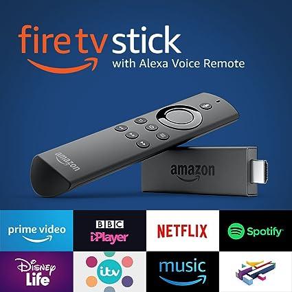 Amazon Fire TV Stick 2nd Gen with Alexa Voice Remote Media Streamer Black