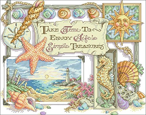 The Ocean Lives, Counted Cross Stitch Kits , 43*34cm,14ct,17
