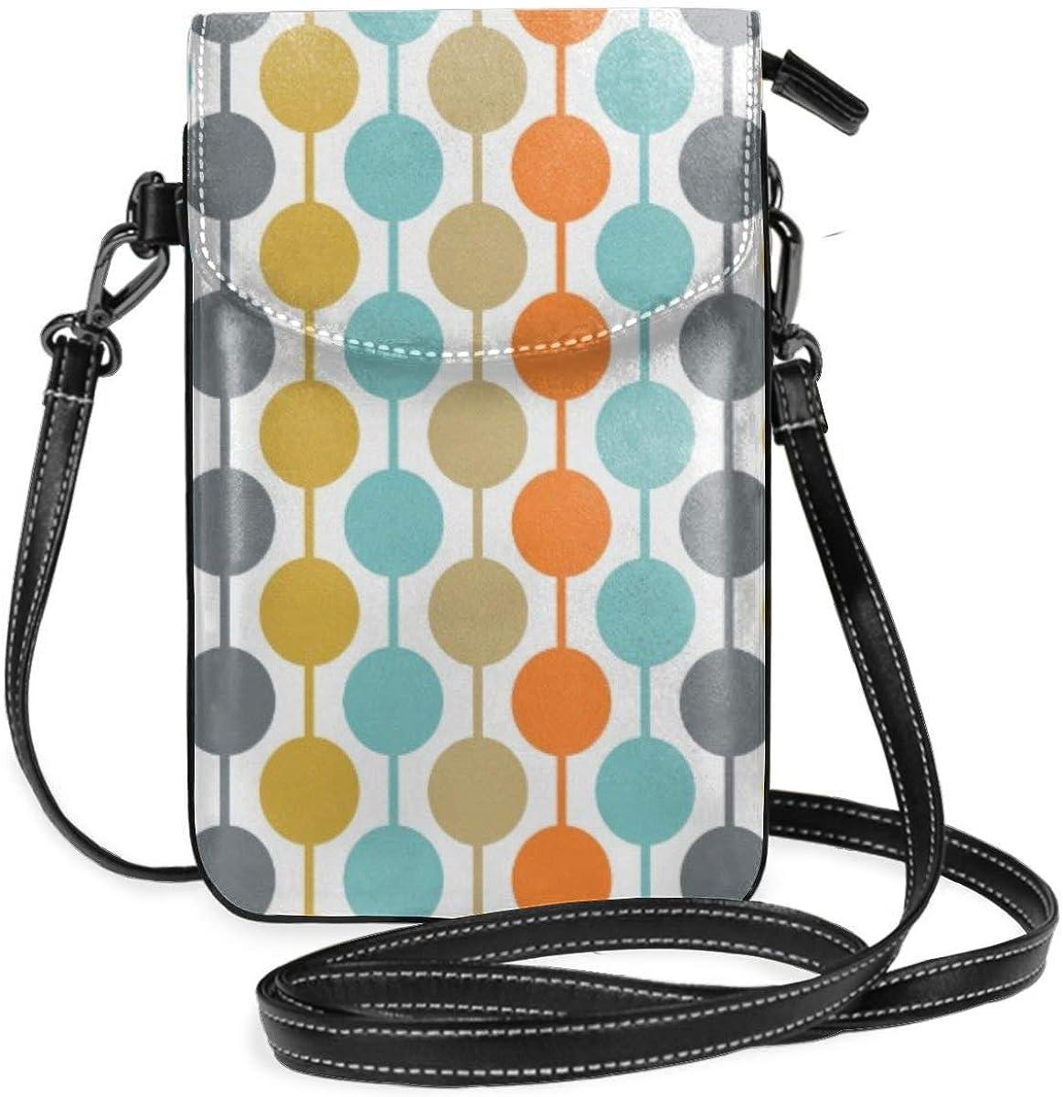 Zara-Decor Retro Circles almohadas de mediados de siglo moderno hogar Crossbody bolso teléfono celular Mini bolso de hombro con correa de hombro para las mujeres, niñas: Amazon.es: Zapatos y complementos