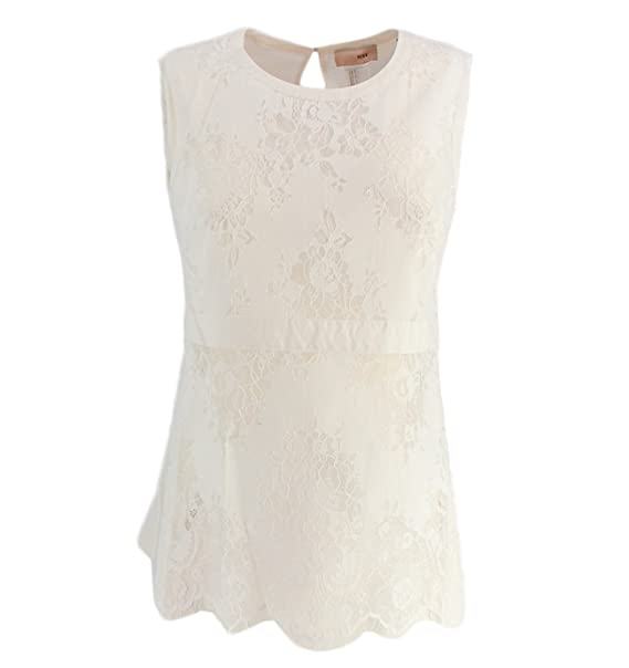 the best attitude c6195 d9884 SS82J1BIANCO Scee by Twin Set Lace Top Scee Twinset Women ...