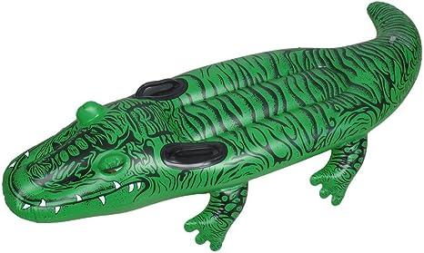 DealMux El Modelo de cocodrilo Verde de PVC Inflable Bote de remos Piscina para los niños: Amazon.es: Deportes y aire libre