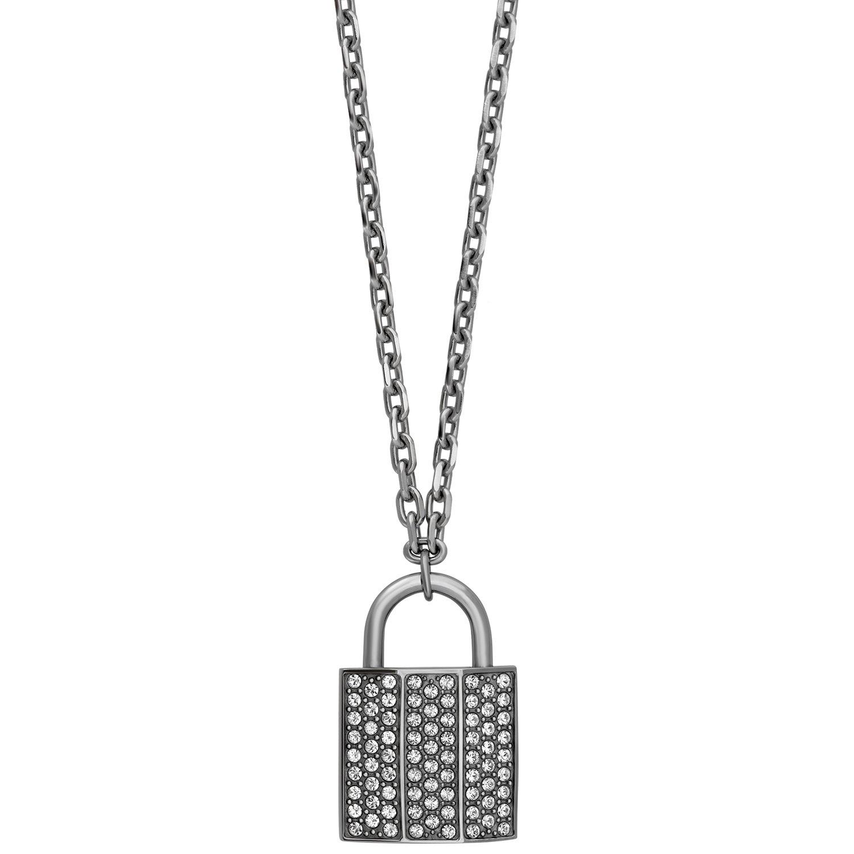 Swarovski Case 5120620 Padlock Design Pendant w/ Clear Crystal Pave Necklace