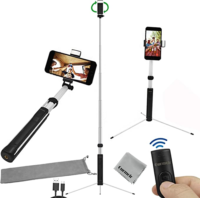 Samsung and Smartphone Bluetooth Selfie Stick Tripod,3 in 1 Multifunctional Wireless Remote Phone Holder for iPhone 11//11 Pro//XS Max//XS//XR//X//8//7