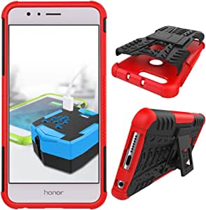 Shock Proof Apple Huawei Honor 8 Cases & Covers - Red