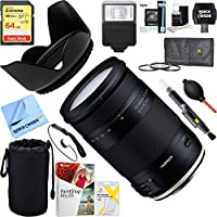 Tamron (AFB028C-700) 18-400mm f/3.5-5.6 Di II VC HLD All-In-One Zoom Lens for Canon Mount + 64GB Ultimate Filter & Flash Photography Bundle