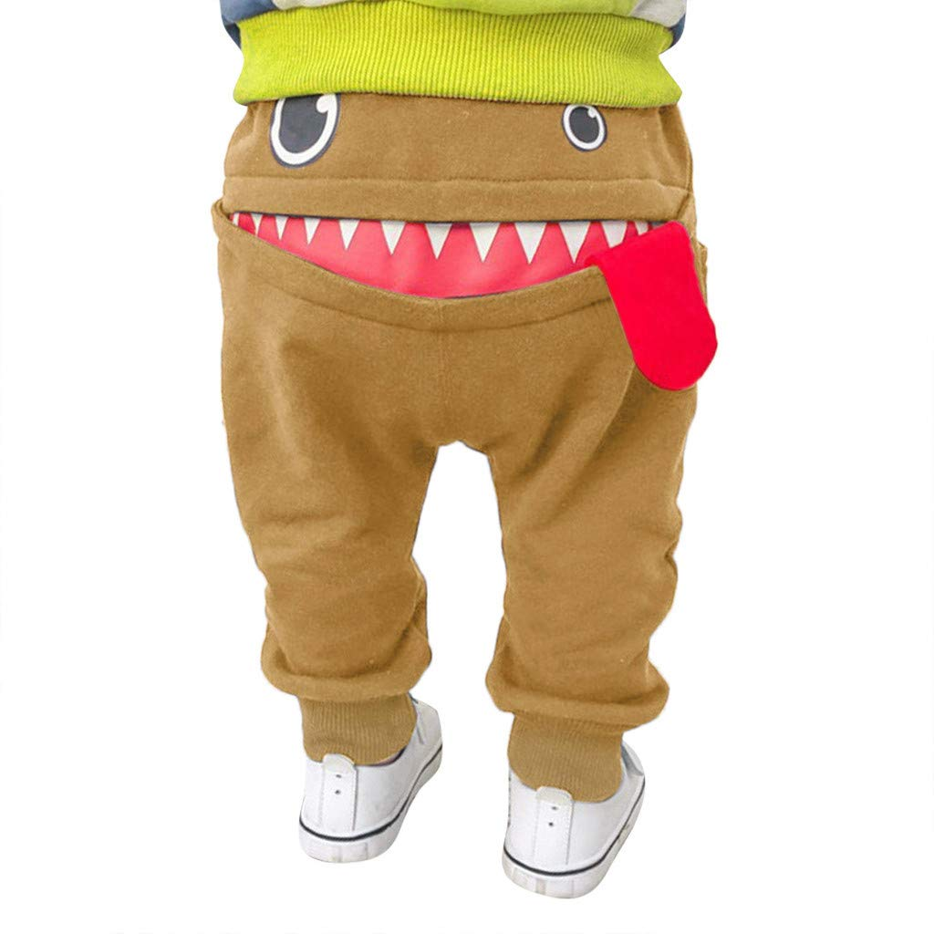 Baby Kids Cartoon Pants,Shark Big Tongue Harem Pants Children Pants for Boys and Girls Trousers Age:6M-3 Years
