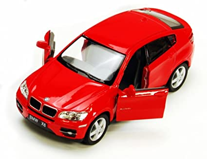 Amazon Com Bmw X6 Red Kinsmart 5336d 1 38 Scale Diecast Model