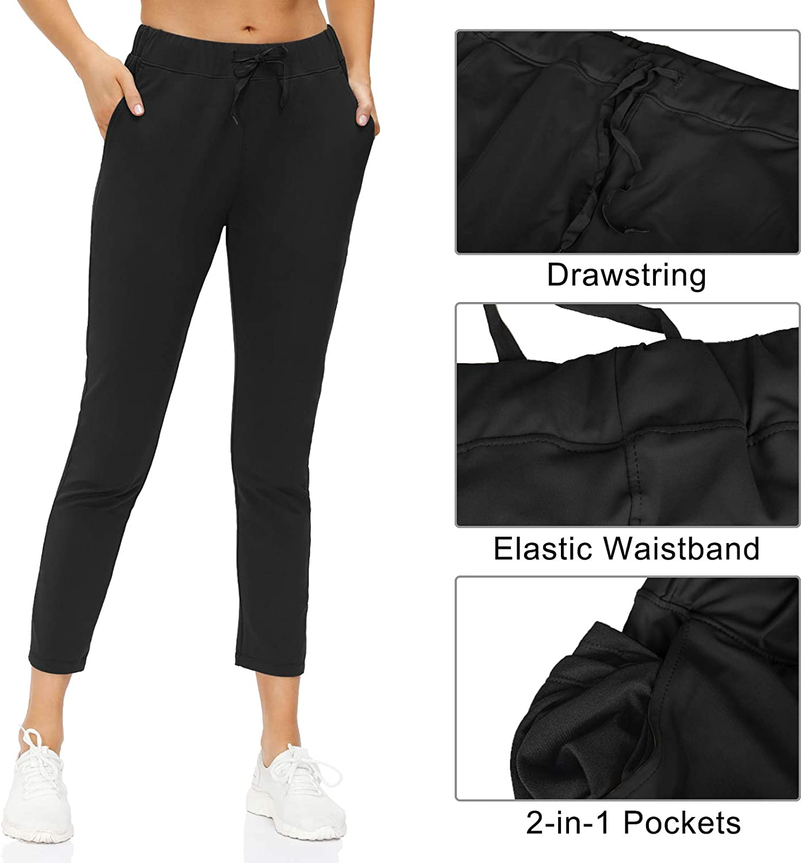 Butrends Pantalon de Jogging d/écontract/é /à Cordon Femme Pantalon Taille Elastique Pantalon de Jogging pour Sport Yoga et Fitness avec Poches 2 en 1