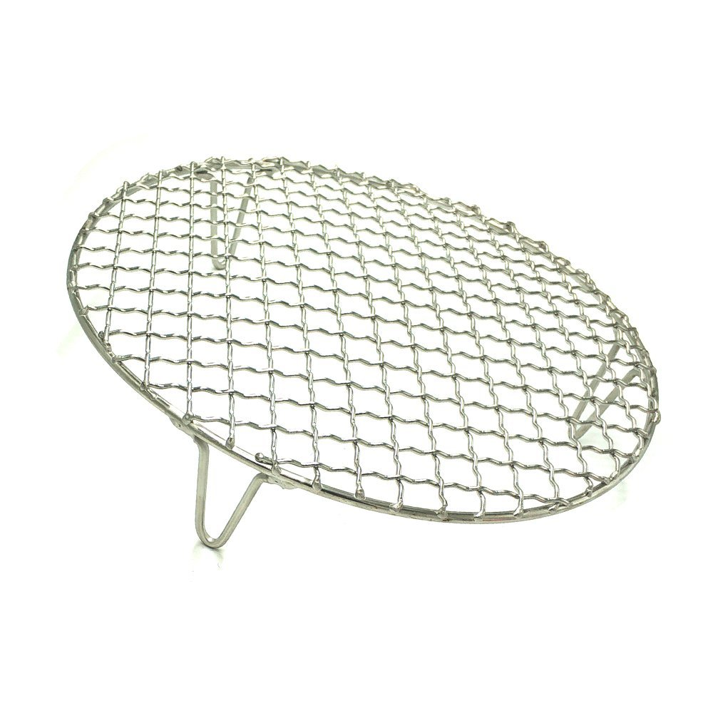 Turbokey Round Grill Barbecue Net, Cross-wire Cooling Rack 2'' Height Durable Stainless Steel Multi-Purpose Baking Barbecue Rack/Food Steamer/Cooking/Baking/Steaming Rack Dia 13'' (330mm/13'') by Turbokey (Image #1)