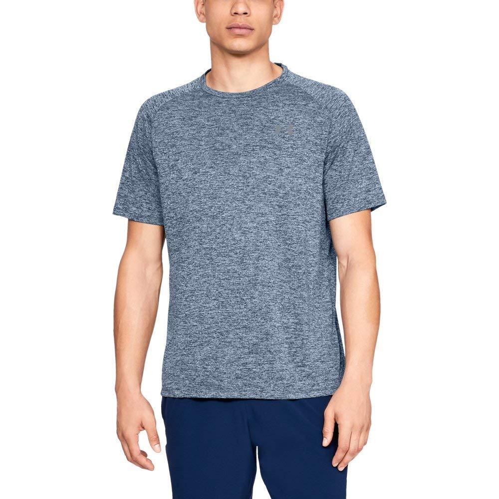 Under Armour mens Tech 2.0 Short Sleeve T-Shirt, Academy (409)/Steel, Small