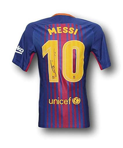 615c361ee99 Lionel Messi Signed 2017 18 Barcelona Jersey. at Amazon s Sports  Collectibles Store