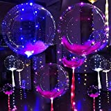 MKT 18 inch LED Light Balloons Flashing Colourful 3M String great for Parties Celebrations Decorations (Pack 1)